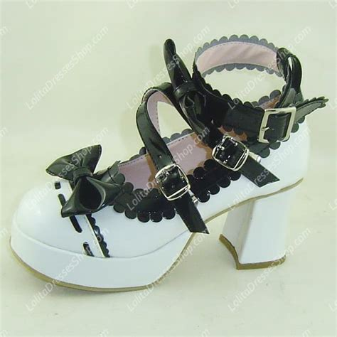 Best Seller Kvoll Sneaker Size 35 36 37 38 39 cheap white with black lace high heel pu sweet shoes sale at dresses shop