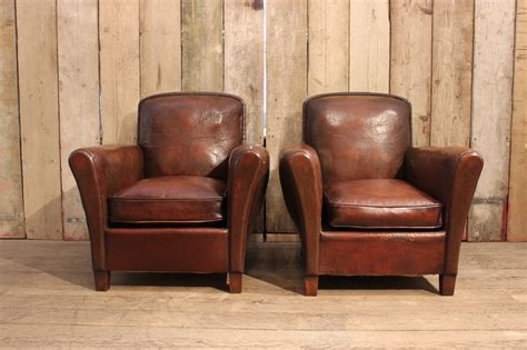 french leather armchair pair of 1940s french leather armchairs furniture