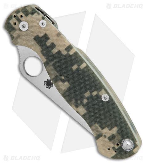 spyderco paramilitary 2 blade length spyderco digi camo g 10 paramilitary 2 knife free shipping