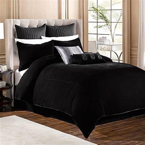 velvet comforter queen buy velvet full queen duvet cover in black from bed bath