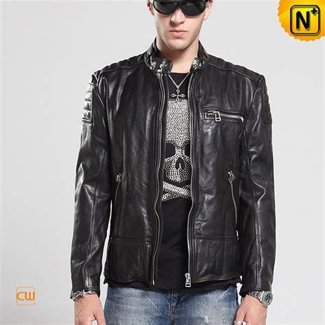 mens moto jacket mens designer leather moto jacket black cw850216