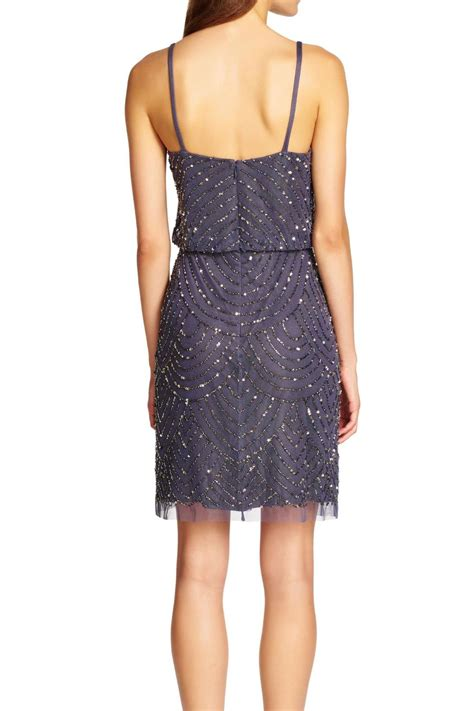 beaded blouson dress papell beaded blouson dress from by high