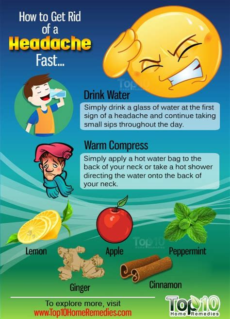 how to get rid of a headache fast top 10 home remedies