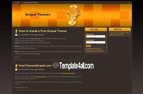 theme drupal music colorful black drupal theme download