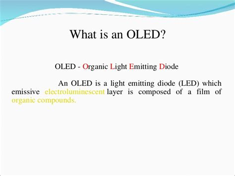 what is organic light emitting diodes what is organic light emitting diodes 28 images a review on fabrication process of organic