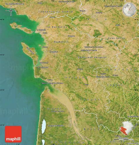 satellite map  charente maritime