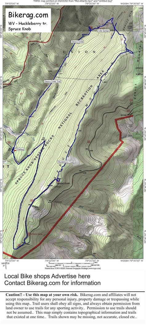 Spruce Knob Trail Map by Wv Huckleberry Trail Review