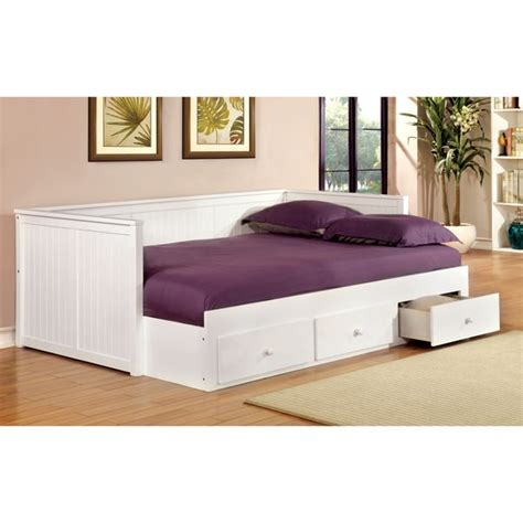 full size day bed furniture of america ophelia cottage style full size