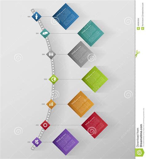 flat design effect timeline template stock vector image 49085394