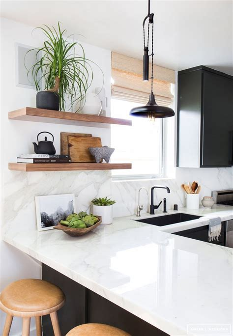 open shelving under cabinets kitchen pinterest open great kitchen styling idea marble countertop and