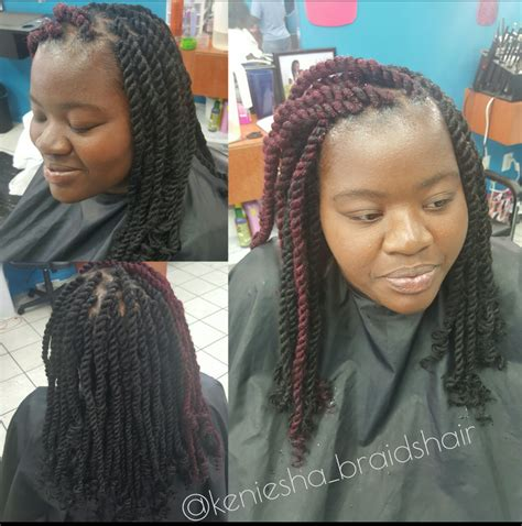 large kinky twist with marley braid hair pictures pricing braids by keniesha