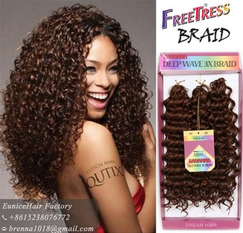 10inch deep wave synthetic braided style 10inch freetress water wave aliexpress com buy easy combing styling crochet braid