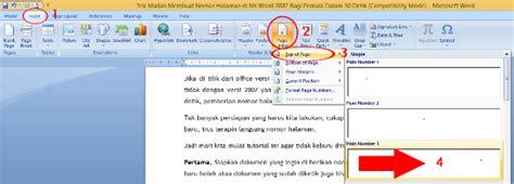 cara membuat halaman romawi dan angka di word 2013 cara membuat halaman di word 2007 dengan mudah dan praktis