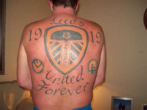 leeds united tattoo designs leeds united