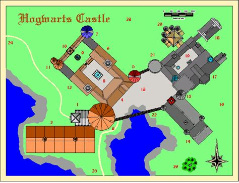 Map Of Hogwarts Castle All Floors by Hogwarts A History