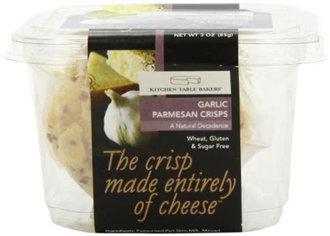 Kitchen Table Bakers Kitchen Table Bakers Garlic Parmesan Crisps 3 Ounce Packages Pack Of 4 Food Beverages