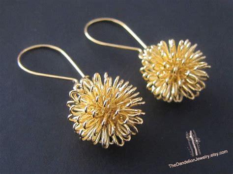 Earrings Dandelion 1 dandelion earrings dangle earrings drop earrings jewelry