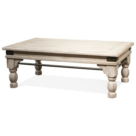 riverside coffee table riverside furniture regan coffee table with metal accents