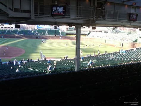 what is section 23 wrigley field section 231 chicago cubs rateyourseats com