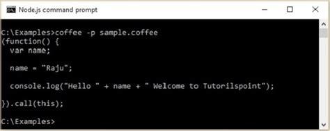 javascript printable area coffeescript quick guide