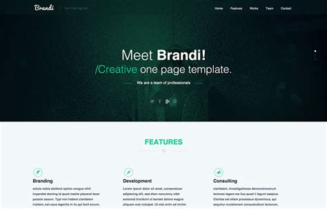 page design template free 23 free one page psd web templates in 2018 colorlib