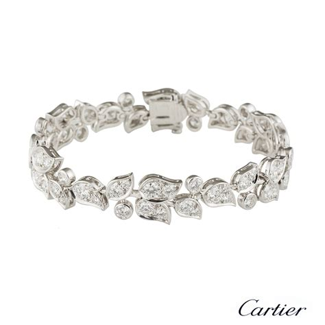 Cartier Floral Diamond Bracelet 7.49ct   Rich Diamonds Of