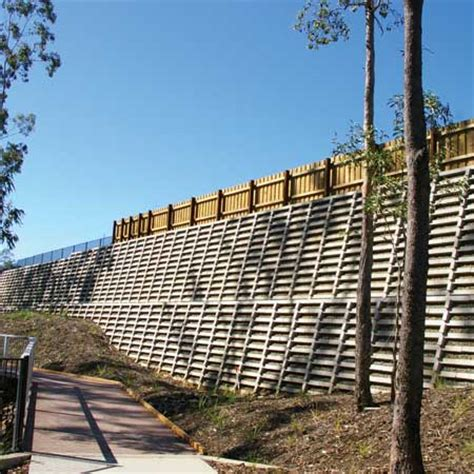 Concrete Crib Wall by Project Profile Concrete Crib Wall At Brookwater