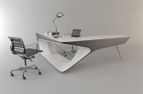Futuristic Office Desk Futuristic L Shaped Desk For Modern Workspaces Digsdigs