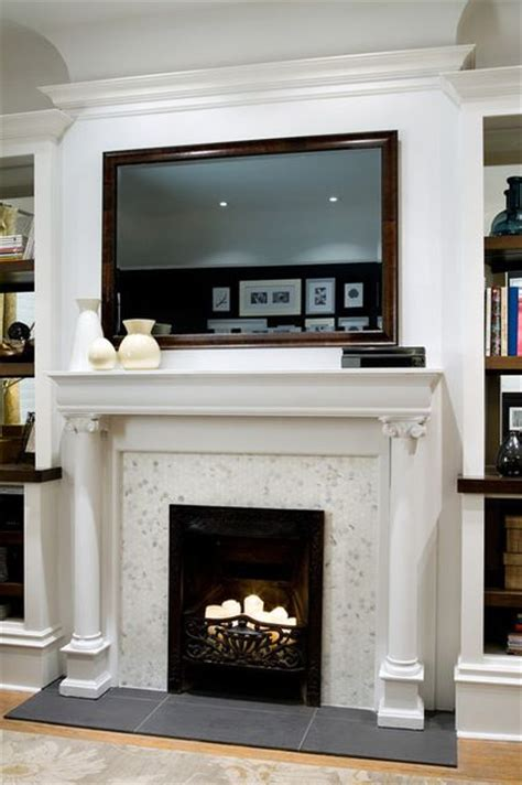cable fireplaces and tv display on