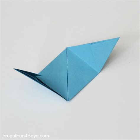 Fold Paper Into Cube - how to fold origami paper cubes frugal for boys and