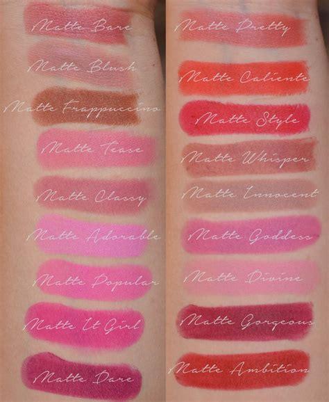 Lipstik Jordana Modern Matte jordana modern matte lipsticks swatches lipstick