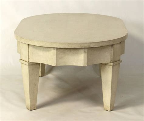 painted oval cocktail table for sale at 1stdibs
