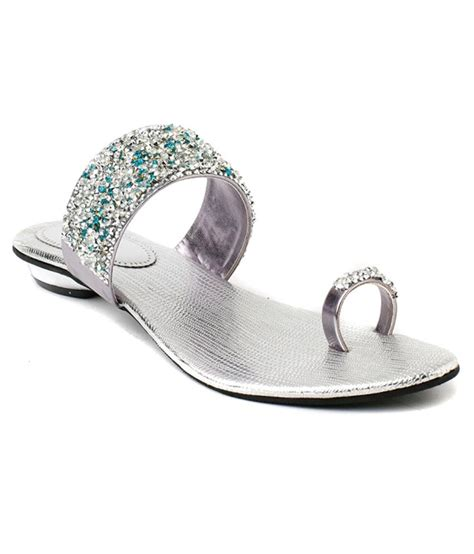 silver sandal wellworth silver flat sandal price in india buy wellworth