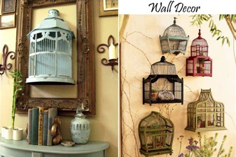give your home a chic decor by reusing your bird cage