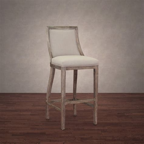 Linen Counter Stool by Image Gallery Linen Bar Stools
