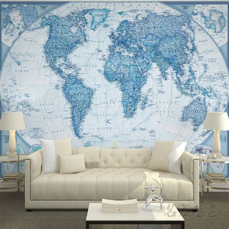 cloth wall murals free shipping large mural living room tv wallpaper cloth world map of the world wallpaper mural