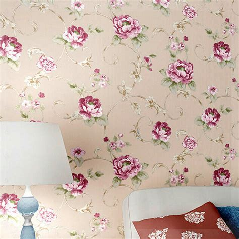 flower wallpaper designs for bedrooms fashion modern american pastoral wallpaper bedroom living