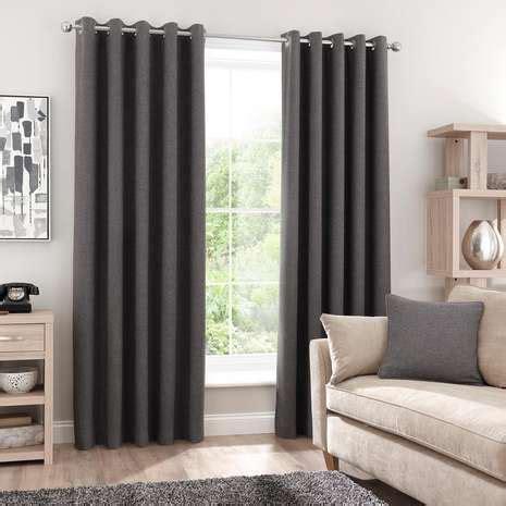 grey blackout eyelet curtains luna grey blackout eyelet curtains dunelm