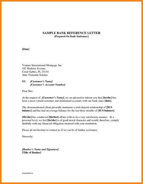 Bank Reference Letter Template Free How To Write A Request For Bank Reference Letter Cover Letter Templates