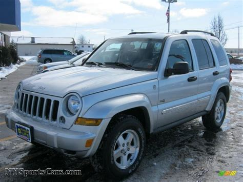 silver jeep liberty 2006 jeep liberty sport 4x4 in bright silver metallic