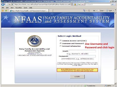 nfaas log on rivron two family preparedness
