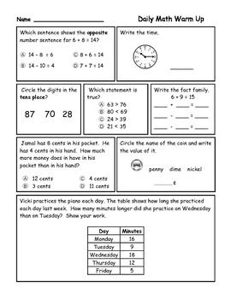 3rd grade daily math review worksheets the world s catalog of ideas