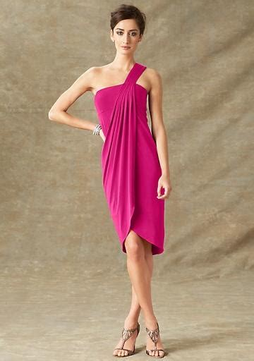 10 Everyday Dresses That A Bridesmaid Could Wear For 100 magenta one shoulder dress from newport news 59 10