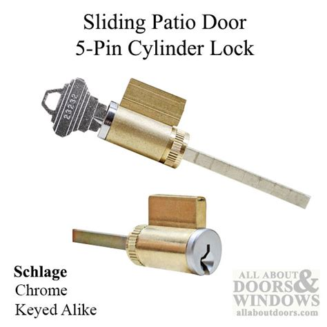 Patio Door Lock Cylinder with Sliding Door Cylinder Lock Locks Sliding Patio Doors