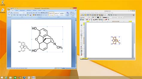 chemdoodle free screenshots chemical drawing software