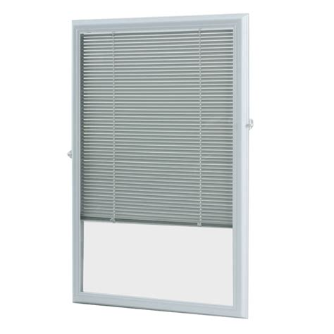 Micro Blinds For Doors by Shop Odl 0 59 In Cordless White Aluminum Light Filtering