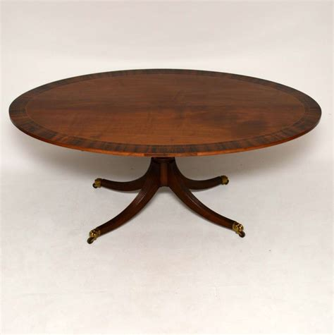 Antique Rosewood Dining Table Inlaid Mahogany Rosewood Oval Dining Table Loveantiques