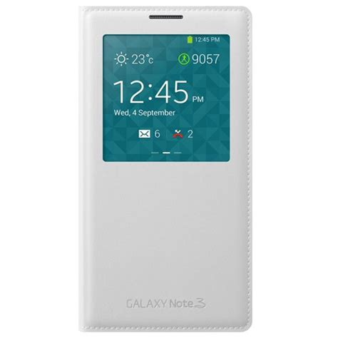 Flip Cover For Samsung Galaxy Note3 N9000 Casing Flip Kesing samsung galaxy note 3 n9000 s view kapaklı kılıf beyaz