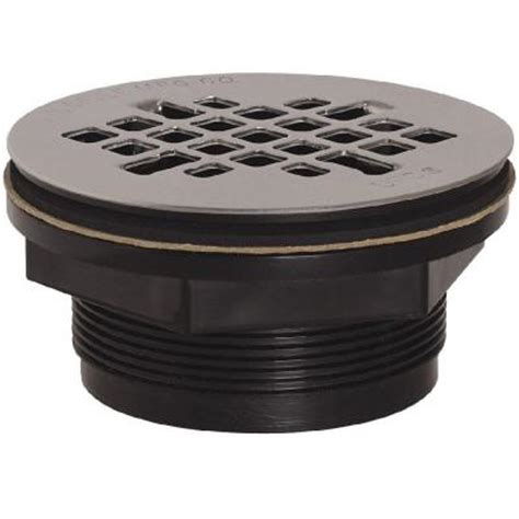 2 in black abs shower drain with strainer 828 2apk the