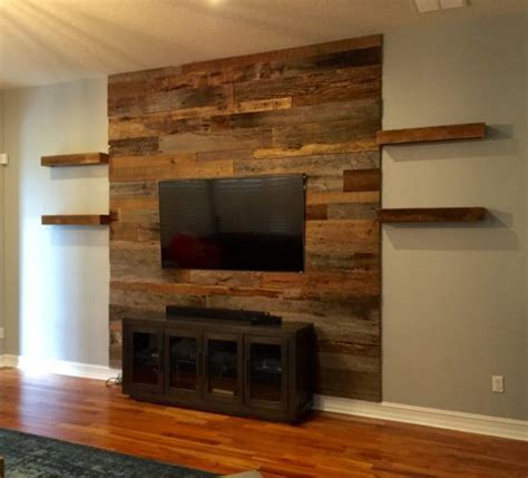 orlando barn wood accent wall  shelves wooden accent